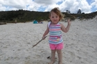 Mya Rees, 2, takes advantage of Dargaville's great weather with a visit to Kai Iwi Lakes, just north of the town, on Boxing Day. Photo/Proud Grandmother Amanda Sole
