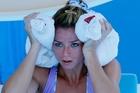 Camila Giorgi of Italy feels the heat at the Australian Tennis Open. Photo / AP