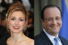 France's President Francois Hollande, right, and French actress Julie Gayet, who is reported to be pregnant with his child. Photo / AFP