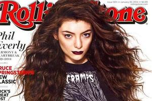 Lorde appears on the cover of Rolling Stone.