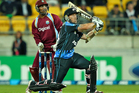 Luke Ronchi scored 51 not out off 28 balls to seal New Zealand's win last night. Photo / Getty