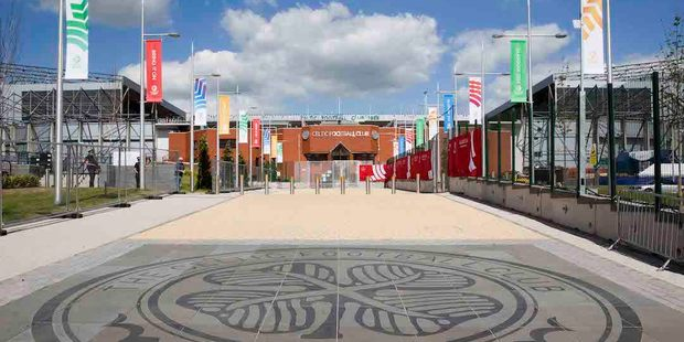 The walk towards the Celtic Football Club grounds which will host the opening ceremony for the XX Commonwealth Games. Photo / Greg Bowker