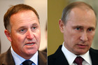 Mr Key said the Government called on Russian President Vladimir Putin to show leadership. Photo / Getty Images