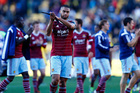 Winston Reid of West Ham leaves the field at the end of the game. Photo / Getty Images