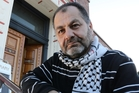 Whangarei Palestinian Suhil Musa outside the Old Library, where a peace vigil will be held this evening. Photo / John Stone