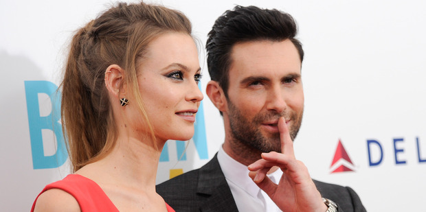 Adam Levine and Behati Prinsloo have married in Mexico. Photo/AP