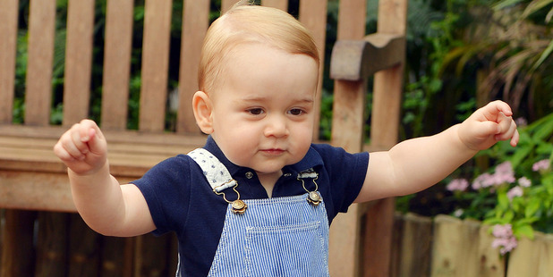 Prince George walks during a visit to the Natural History Museum. Photo / AP / John Stillwell