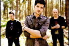 The Script front man Danny O'donoghue, centre, has filed charges against a fan who allegedly grabbed his crotch.