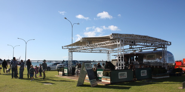 The Vogels pop-up cafe on Tauranga's waterfront. PHOTO/REBECCA SAVORY