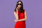 Liann Bellis top, $160. Caroline Sills skirt, $204. Versace sunglasses, $600, from Sunglass Hut. Witchery heels, $219.90. Photo / Greg Bowker
