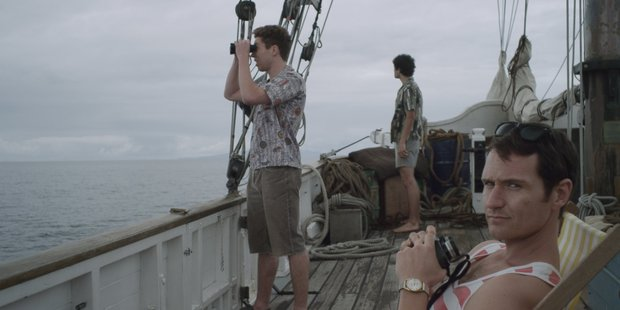 A scene from the rip-roaring real-life story in the docudrama 'Pirates of the Airwaves'.