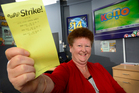 One of the winning lotto tickets were sold at Paper Plus Mount Maunganui. Owner Jane Debenham.