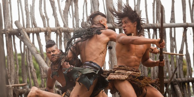 Loading The Dead Lands starring James Rolleston (right).