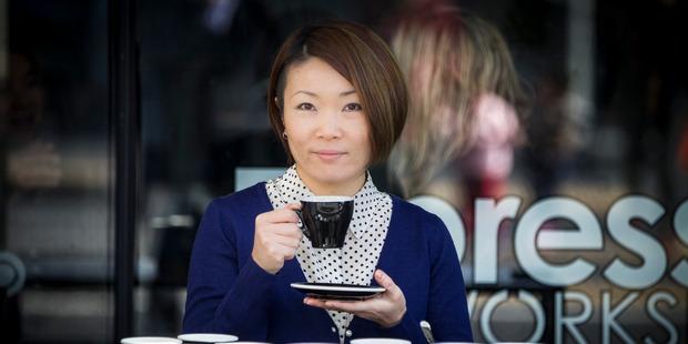 Top barista Hanna Teramoto from Espresso Workshop. Photo / Michael Craig