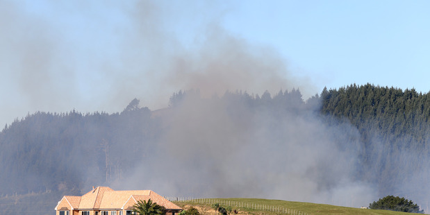 Fire on a rural property up Ohauiti Rd.