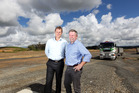 NZRPG chairman Mark Gunton (right) and Campbell Barbour general manager (commercial) pictured at the huge Westgate development in West Auckland. Photo / Chris Gorman