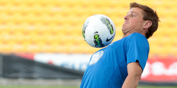 Ben Sigmund trains with his team at Mt Smart Stadium. Photo / Richard Robinson