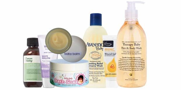 Nature Baby Massage Oil; Weleda White Mallow Facial Cream; Joanna Lewton Baby Balm; Billie Baby Bath Soak; Aveeno Baby Wash; Comvita Medihoney Antibacterial Wound Gel; Therapy Baby Hair & Body Wash.