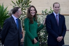 Prime Minister John Key was at the opening of the cycling centre in Cambridge with Kate and William. Photo / Richard Robinson