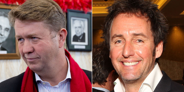 David Cunliffe, left, and Mike Hosking. Photos / NZ Herald