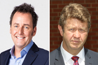 Mike Hosking, left, and David Cunliffe.