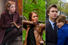 Films from the books, from left; The Book Thief, The Hunger Games, The Fault in Our Stars.