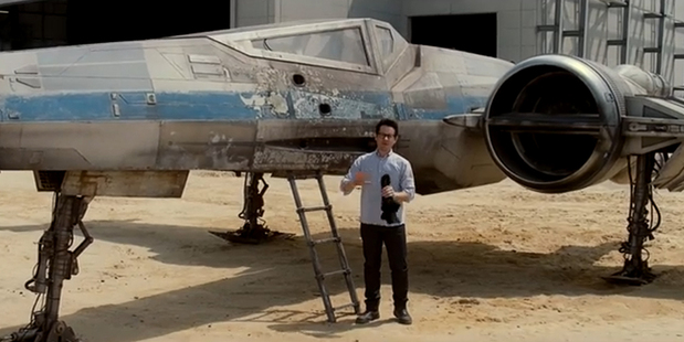 Loading JJ Abrams in his newly-released Star Wars video.