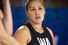 Liana Leota gave birth to her third child and is now eyeing a second Commonwealth Games gold medal. Photo / Greg Bowker