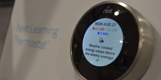 The Nest Learning Thermostat learns your schedule, programs itself and can be controlled from your smartphone. Photo / Wikimedia - Raysonho