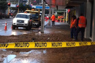 A small sinkhole has opened up on Jervois Quay in Wellington this morning. Photo / Rebecca Quilliam