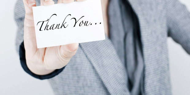 If we had more manners and graciousness in our work lives, we would most probably reap more benefits - such as more customer referrals. More sales. Better annual reviews. Photo / Thinkstock