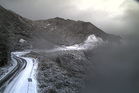 Snow on the Rimutaka Hills this morning. Photo / Metservice