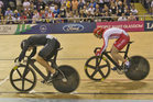Sam Webster cruised to victory against England's Jason Kenny for his second gold. Photo / Greg Bowker