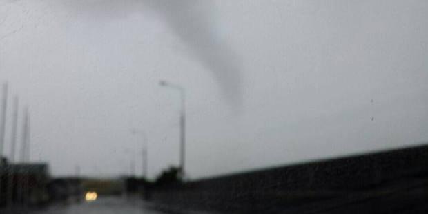 The tornado hit Blaketown shortly before 5pm. Photo / Sarah Shaw