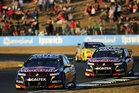 Craig Lowndes tails Red Bull team-mate Jamie Whincup. Photo / Getty Images