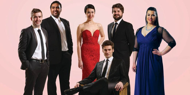 Finalists in the Lexus Song Quest Left to right: Christian Thurston, Benson Wilson, Bianca Andrew, Oliver Sewell, Isabella Moore and seated at front, Edward Laurenson.