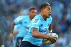Former league star turned Waratahs and Wallabies ace Israel Folau has twice the venom of the Crusaders' blockbusting back Nemani Nadolo. Photo / Getty Images