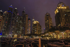 The Dubai Marina by night. Photo / Thinkstock