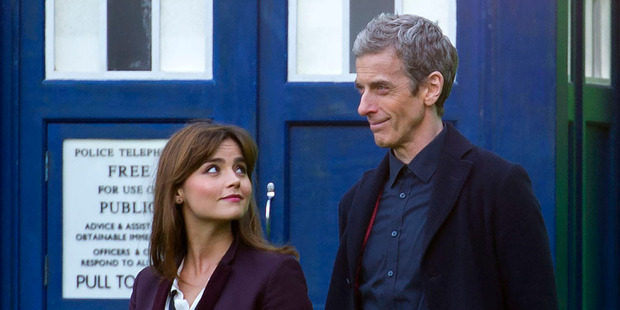 Jenna Coleman (left) and Peter Capaldi (right). Photo / Getty Images