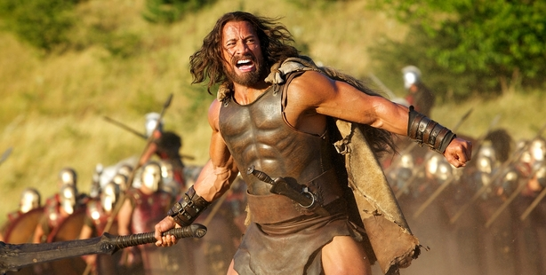 A buff Dwayne Johnson, in  Hercules, has won a host of male admirers.  Men tend to have selective admiration for Greek statues. Photo / Getty Images