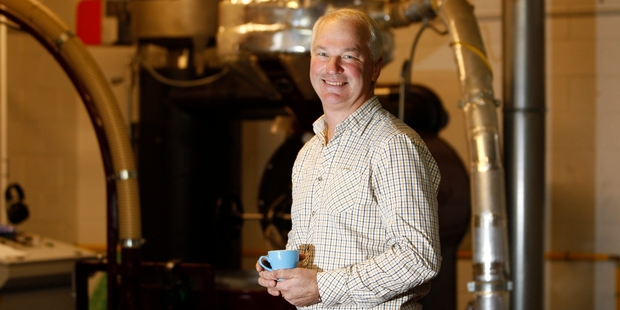 David Burton is keen to get New Zealanders drinking better coffee at home. PICTURE / CHRIS GORMAN