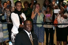 Meriam Ibrahim and her husband Daniel Wani arrive in Manchester, New Hampshire. Photo / AP