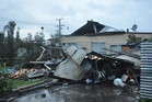 Damage to Marcia Pera's property in the Greymouth suburb of Blaketown. Photo / Greymouth Star