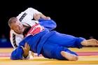 Kiwi bronze medallist Tim Slyfield (left) thinks judo is in good shape. Photo / Greg Bowker