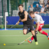New Zealand hockey player Simon Child in action during New Zealand's match against England on day six of the Commonwealth Games in Glasgow. Photo / Greg Bowker
