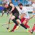New Zealand's Blair Hilton controls the ball. Photo / Greg Bowker