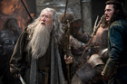 Ian McKellen, left, as Gandalf The Grey, and Luke Evans as Bard, in a scene from The Hobbit: The Battle of Five Armies. Photo/AP