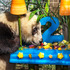 Xiao Liwu, a male giant panda, checks out his birthday cake as he turns two years old at the San Diego Zoo. Photo / AP
