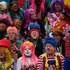 Clowns gather for a group picture during the sixth annual Latin American Clown Congress in Guatemala City. Photo / AP