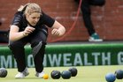 Mandy Boyd of the New Zealand women's fours team during the bronze medal match against Scotland. Photo / Greg Bowker